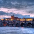 Prague castle at night - HDR photo — Stock Photo #2648023