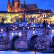 Royalty-Free Stock Photo: Prague castle at night - HDR photo