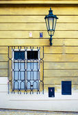 Window and lantern — Stock Photo