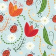 Stock Vector: Seamless spring pattern