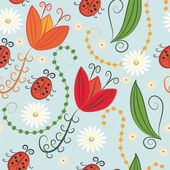Seamless spring pattern — Stock Vector