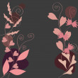 Royalty-Free Stock Vector Image: Dark floral background