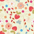 Royalty-Free Stock Vector Image: Seamless pattern with strawberries