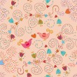 Seamless ornate pattern in pink — Stock Vector