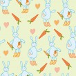 Seamless pattern with rabbits — Stock Vector #2398041