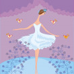 Сцена с танцы балерина — Cтоковый вектор
