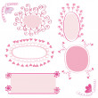 Pink romantic banners — Stock Vector