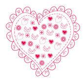 ロマンチックな心 — ストックベクタ