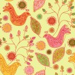 Royalty-Free Stock Vector Image: Seamless bright pattern with  birds
