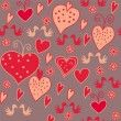 Royalty-Free Stock Vector Image: Seamless romantic pattern