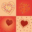 Hearts backgrounds — Stock Vector