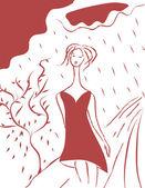 Slecht weer, slecht humeur — Stockvector