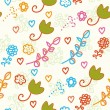 Seamless childish pattern with flowers — Image vectorielle