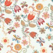 Floral seamless ornate pattern — Stock Vector