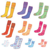 Set of funny socks — Stock vektor