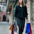 Young woman with shopping bags — Stock Photo #2402244