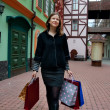 Young woman with shopping bags — Stock Photo #2402388