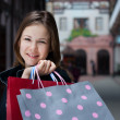 Young woman with shopping bags — Stock Photo #2402613