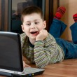 Boy playing computer game — Stock Photo #2475217