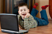 Boy playing computer game — Stock Photo