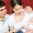 Happy family - mother, father and baby — Stock Photo #2486427