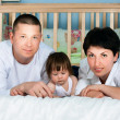 Family home - father, mother, daughter — Stock Photo