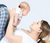 Happy family - mother and baby — Stock Photo