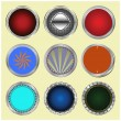 Royalty-Free Stock Vector Image: Big set of color glossy buttons.
