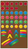 Gran juego de botones brillante de color. — Vector de stock
