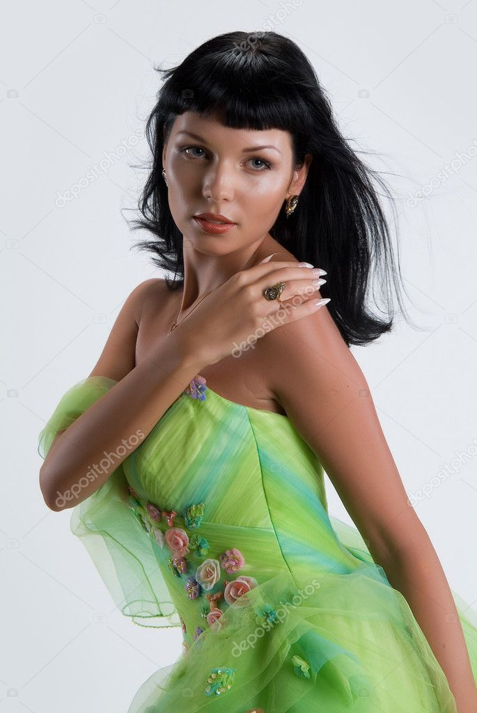 Young woman in fashionable clothing — Stock Photo #2388283