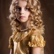 Little Blonde Girl - Stock Photo