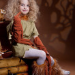 Stock Photo: Little Blonde Girl