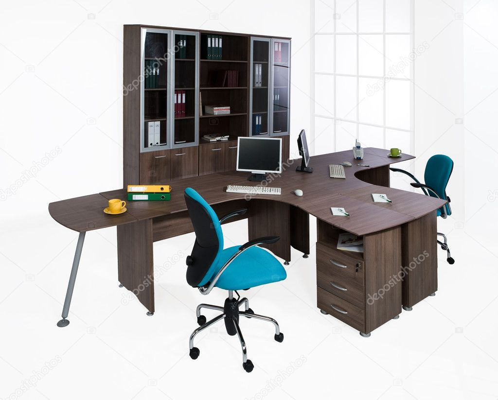 Office furniture on a white background  Stock Photo #2441896