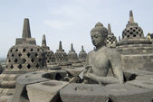 Borobudur Temple in Java, Indonesia — Stock Photo
