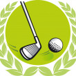 Stock Vector: Golf Champ