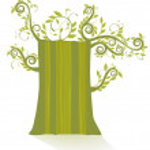 Grüner Baum — Stock Vector