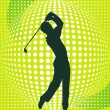 Stock Vector: Golf-Player