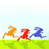 Hasen-rennen — Stockvector