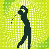 Golf-Player — Stock Vector