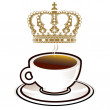 Kaffee Royal — Stock Vector