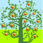 Apfelbaum — Stock Vector