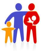 Familie mit bébé — Vecteur
