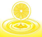 Zitronen-Saft — Stock Vector