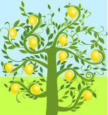 Zitronenbaum — Stock Vector