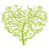 Herz-Baum — Stock Vector