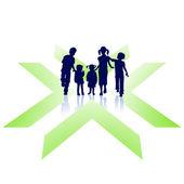 Kinder sind wichtig — Stock Vector