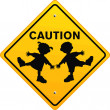 Caution Children - Stock Vector