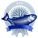 Wappen mit Fisch — Stock Vector #2571801