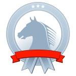 Wappen mit Pferd — Stock Vector