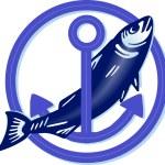 Fisch mit Anker — Stock Vector #2577070